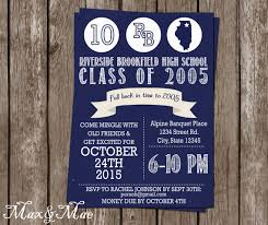 50th high school class reunion invitation high school reunion invitation college reunion class of