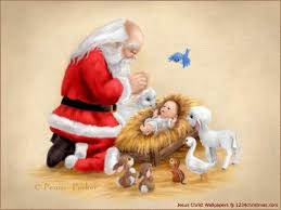 santa and baby jesus picture baby jesus christmas wallpapers free