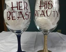 his and hers glassware his and glasses etsy