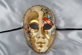 luxury ornate and exquisite venetian decorative and wall masks