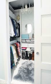 from cluttered mess to mini dressing room a diy closet makeover