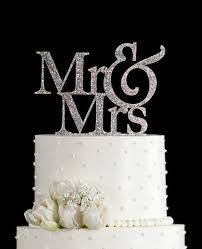 wedding cake top glitter mr and mrs wedding cake topper in your choice of glitter