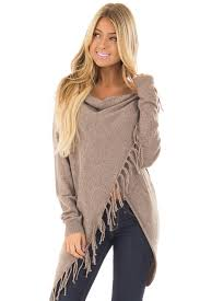 wrap cardigan sweater mocha sleeve sweater wrap cardigan with fringe lime lush