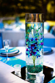 water centerpieces blue orchids submerged in water as centerpieces simple but so
