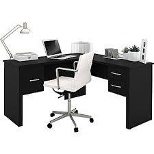 L Desk Staples Bestar Somerville L Shaped Desk Black Staples