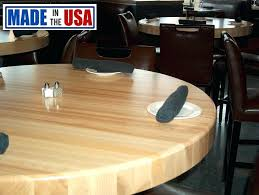 wood table top home depot butcher block table tops round butcher block restaurant table top