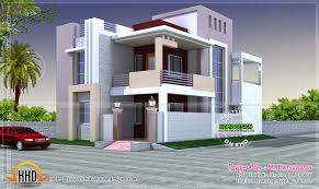Home Design Exterior Elevation Design Showing Ground Floor First And Boundary Including
