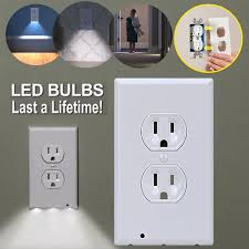 receptacle cover night light plug cover night angel outlet sensor night light home decor wall