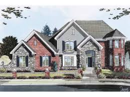 eplans new american house plan brick u0026 stone two story with