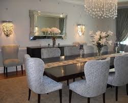 dining room beauteous designs with modern chandelier for dining dining room entrancing design ideas using rectangular brown wooden tables and rectangular grey polyester stacking