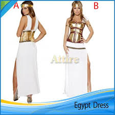 Cleopatra Halloween Costumes Adults Deluxe Egyptian Goddess Costume Ladies Halloween White Fancy