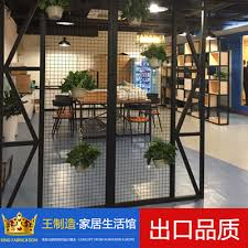 Industrial Room Dividers Partitions - industrial style wire grid partition iron screen office room