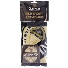 guinness guinness bar towel and coaster pack