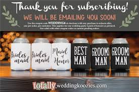 personalized wedding koozies totallyweddingkoozies create your custom wedding can coolers