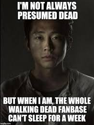 Glenn Walking Dead Meme - please don t let him die imgflip