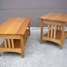 Craftsman Coffee Table Handmade Quartersawn Oak Mission Style Coffee Table And End Table