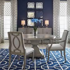 Gretta Hollywood Regency Steel Inlay Grey Round Dining Table - Regency dining room