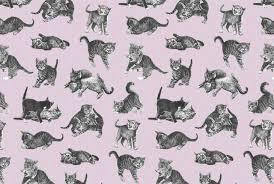 contemporary wallpaper fabric sketch animal motif pounce
