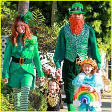 Leprechaun Halloween Costume Ideas Alyson Hannigan U0026 Family Leprechaun Hallowen Costume 2013 2013