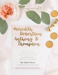 wedding invitations gold foil gold foil watercolor wedding invitation o brien design