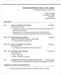 Social Work Resume Examples by 29 Simple Work Resume Templates Free U0026 Premium Templates