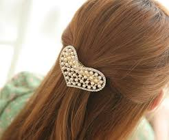 hair barrette luxurious rhinestone pearl heart hair barrette wholesale yiwuproducts