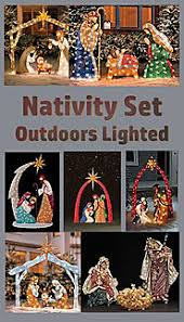 Outdoor Lighted Nativity Set - olive wood nativity set u2013 christmas decorating fun