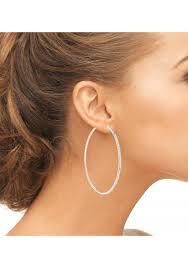 hoop earrings for men sterling silver 925 cz large inside out hoop earrings 2 5 in