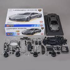 Diy Car Decor Bburago Lamborghini Reventon Diecast Model Metal Kit Assembly Diy