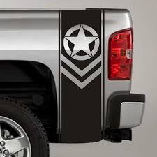 jeep army star army star chevron military truck bed stripe decal stickers pair
