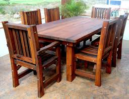 wooden patio table and chairs outdoor tables wood seattle outdoor art