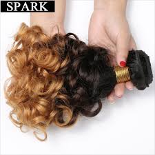 in hair extensions spark 1b 4 27 ombre bouncy curly hair 3 tone remy human