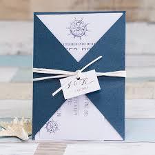 Wedding Invitations Nautical Theme - top 10 trending navy blue wedding invitations for 2016 brides