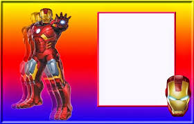 iron man in red and gold free printable invitations cards or