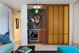 Cabana Curtains Sliding Partition Ideas Family Room Midcentury With Glass Pool