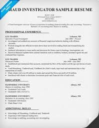 Auditor Job Description Resume by Fraud Investigator Resume Sample Resumecompanion Com Resume