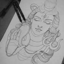 pencil sketch lord shiva face lord shiva pencil sketch buddha