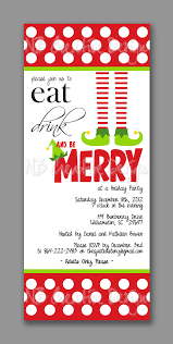 christmas elf invitation printable or printed by thatpartychick