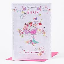 birthday card to a special niece cupcakes u0026 flowers only 99p