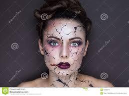 Broken Doll Makeup For Halloween by Halloween Broken Doll Beautiful Stock Photos Images
