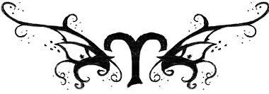 fashion female and have fun tattoo aries
