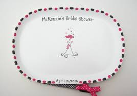 bridal shower plate to sign ceramic signature plate for bridal shower guest book