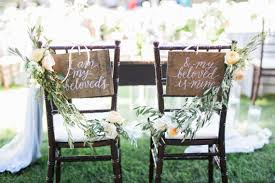 Bride And Groom Chair Signs 29 Bride U0026 Groom Chair Ideas