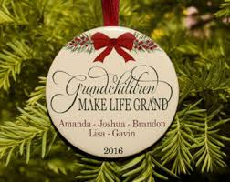 grandparent christmas ornaments grandkids ornament etsy