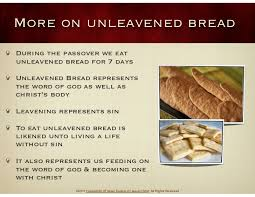unleavened bread for passover the feast of passover
