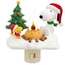 snoopy tree snoopy and woodstock with cfire light lights