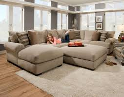 Oversized Chair With Ottoman Decor Beige Oversized Couches With Rug And Ottoman For Living