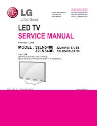 manual de serviço tv lg led 32ln5400 sa e sb e 32ln540b sa e sh