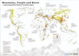 Africa Population Map by Mountains People And Waste A Map Of Population Density In