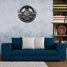 dallas cowboys 3d vinyl wall clock home decor offersplace